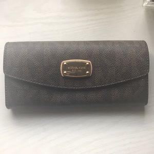 Michael Kors brown monogram wallet